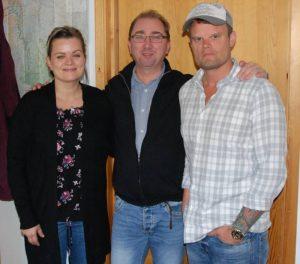 Gjer som Annlaug; vitje oss på arkivet! Frå venstre: Annbjørg Liem, Harald Knutsen og Daniel Sandén Varg