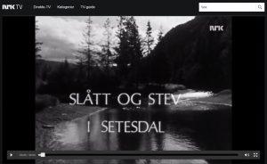 Slått og stev i Setesdal. Bilde fra NRK-program fra 1970